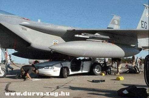 Kocsira landolt