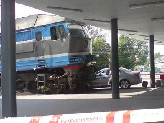 Vonattal ütközött