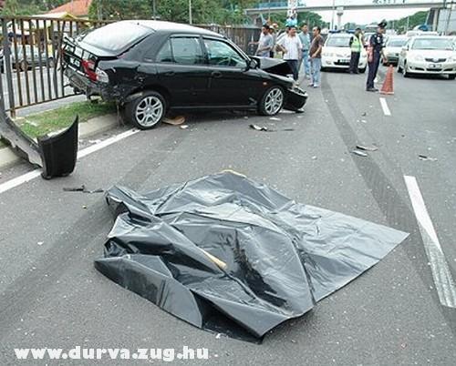 Halott az úttesten