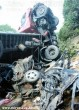 Kamion roncsolt szét egy személyautót
